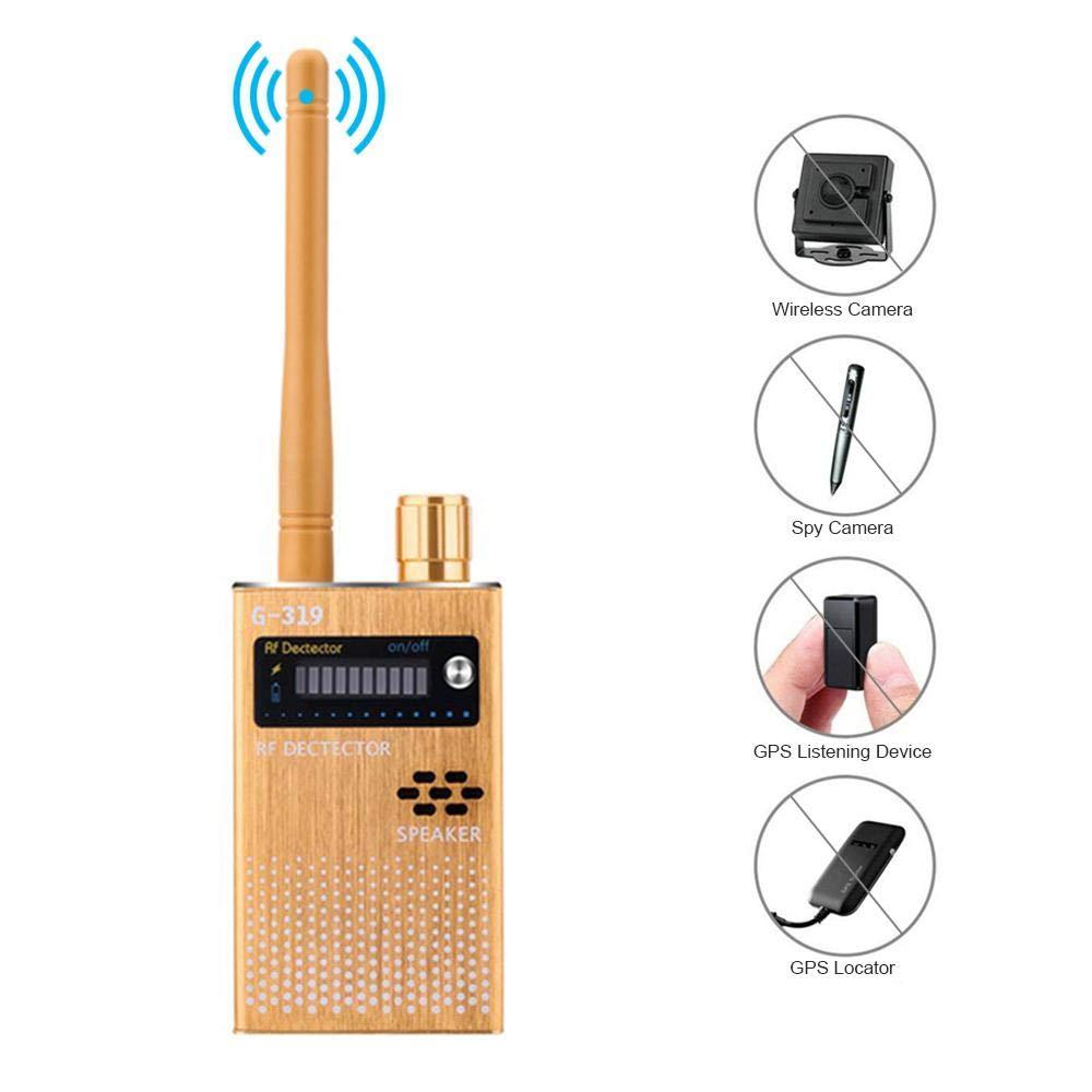 Signal RF D/étecteur GPS Anti Espion D/étecteur Scanner Dispositif de D/étection de Confidentialit/é S/écurit/é D/étecteur dinsectes Hamkaw D/étecteur de cam/éra cach/ée Fr/équence Radio