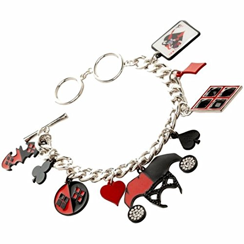 New Official DC Comics Harley Quinn Q 9 charms Bracelet Batman (Cave Man And Woman Costumes)
