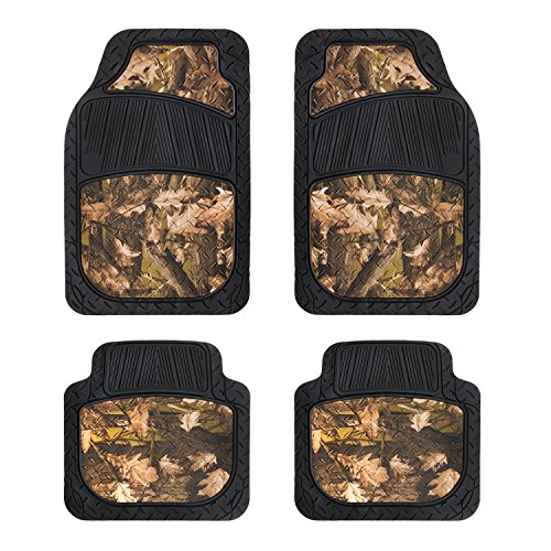 Pilot Automotive FM-342CA Camo Rubber Floor Mat, 4 Piece