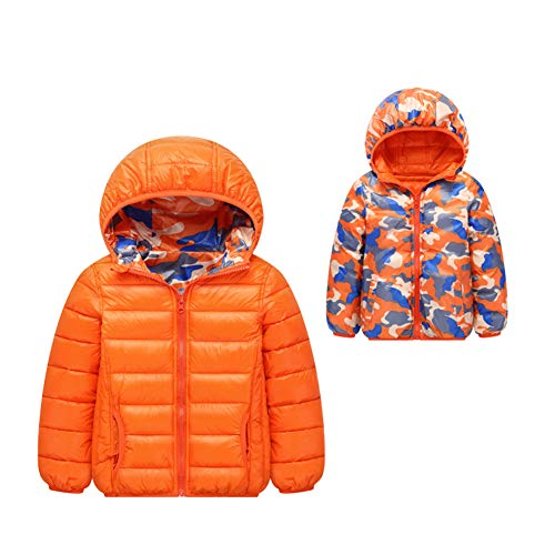 Doulble Puffer Jacket Winter Fairy Baby Outwear Orange Wear Kids Cotton Thick Side Casual YtBOq
