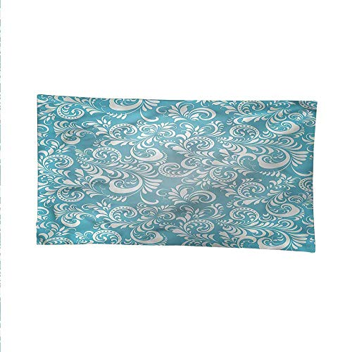 Pale Bluesimple tapestryart tapestryFloral Frosty Pattern 80W x 60L Inch ()