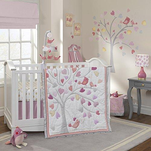 Lambs & Ivy Love Song 4-Piece Crib Bedding Set (Love 4 Piece Crib Bedding)