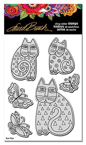 stampendous-laurel-burch-indigo-cats-stamp-set