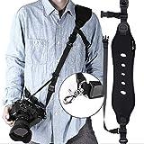 Camera Strap, Camera Shoulder Strap for Nikon D500, Neoprene Quick Release Safety Tether, Camera Sling DSLR Camera Canon Nikon Sony - Black