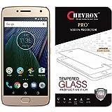 Chevron Motorola Moto G5 Plus Screen Protector, Premium Oil Resistant Coated Tempered Glass Screen Protector Film Guard for Motorola Moto G5 Plus, Anti-explosion