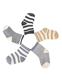 Evelin LEE Kids Unisex Baby Toddler Soft Socks 5 Pairs Crew Walkers Newborn Gift