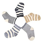 Evelin LEE Kids Unisex Baby Toddler Soft Socks 5 Pairs Crew Walkers Newborn Gift (0-6 months, Style 2-5PCS)