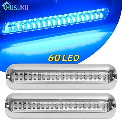 HUSUKU SOOP3 PRO Blue 2000LM 60LED Waterproof Stainless Steel Trim