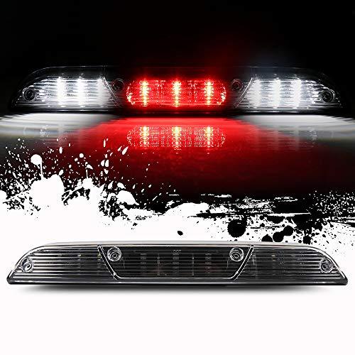 (ROADFAR Third Brake Light LED 3rd Brake Light Rear Tail Brake Light Cargo Lamp Black Lens Clear Housing Replacement fit for 2015-2017 Ford F-150)