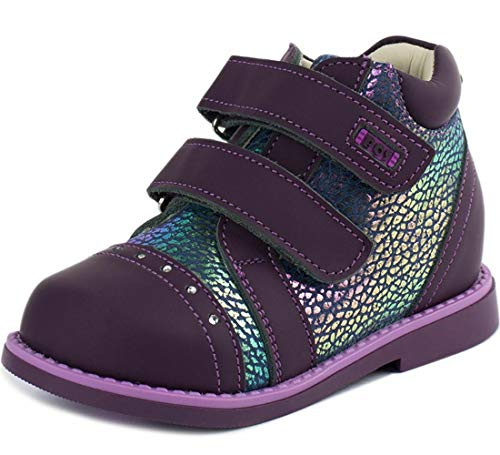(Walking Orthopedic Boots for Girls Purple Natural Leather Size 13)