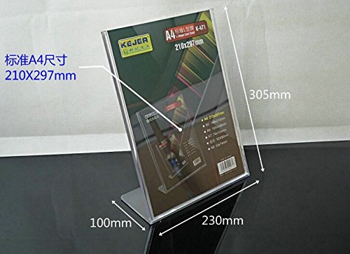 e1c69daa0a62b 20pack of Acrylic Price Tag Advertisement Display Stand Holder A4 ...