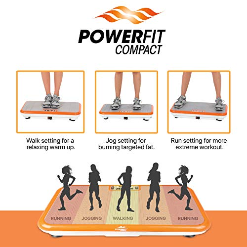 Power Fit Whole Body Vibration Exercise Platform - Home Workout Vibrating Step Equipment by Power Fit (Image #1)