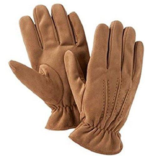 ISO Isotoner Men's A702 Ultra Plush Gloves Luggage Tan Medium