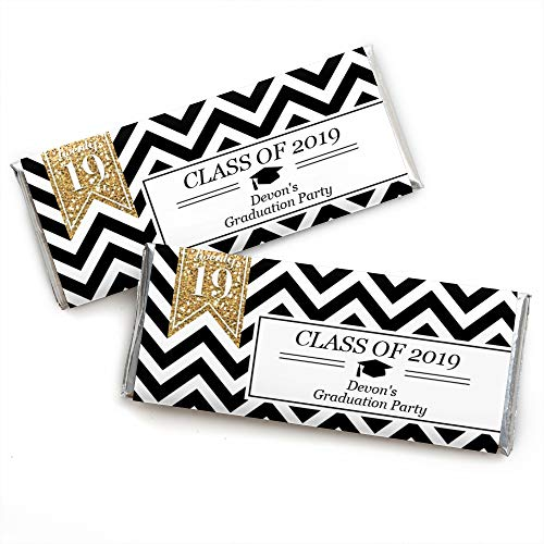 Custom Tassel Worth The Hassle - Gold - Personalized 2019 Graduation Party Favors Candy Bar Wrappers - Set of 24 ()