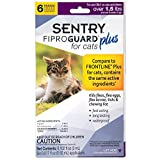 SENTRY Fiproguard Plus Flea and Tick Topical for Cats, 1.5 lbs and Over, 6 Month Supply