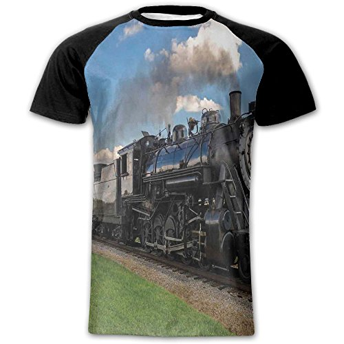 Newfood Ss Vintage Locomotive in Countryside Scenery Green Grass Puff Train Men