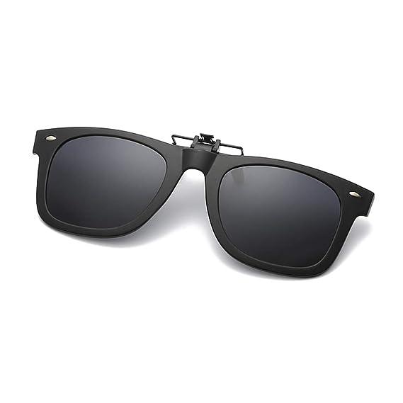 Clip polarizado unisex en gafas de sol, Proteccion anti - Glare UV Gafas de sol puede ser volteado apto para conducir la Pesca Senderismo