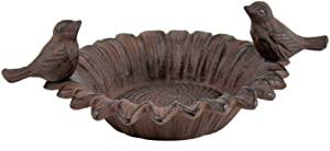Cast Iron Sunflower Bowl Bird Feeder Soap Dish