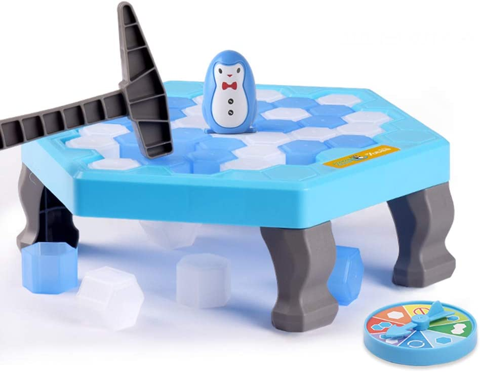 Bloque de hielo pingüino trampa juego de mesa, guardar el pingüino en bloques de hielo juego de Puzzle, activar divertido partido de la familia Mini Juego de mesa para niños paternidad interactivo,M: