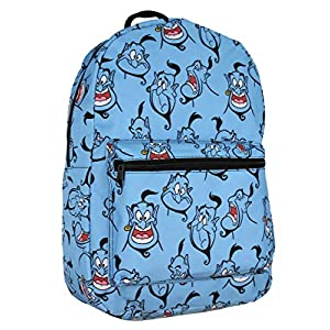 Disney Aladdin Facial Expressions Of Genie Allover Print Travel Laptop Backpack Book Bag