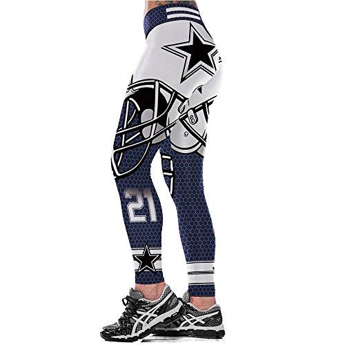 yaqi Digital Printing Sports Yoga Waistband Woman Leggings Elastic Tight Fitness Pencil Pants Asian Size (Cowboys 0081, L=XL)]()