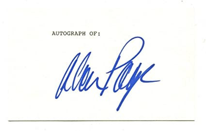 Alan Page Signed Autographed 3 X 5 Index Card Minnesota