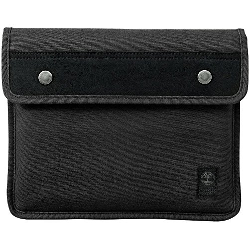 Timberland Unisex Natick Water-Resistant Cotton Tablet Sleeve (Black/Black)