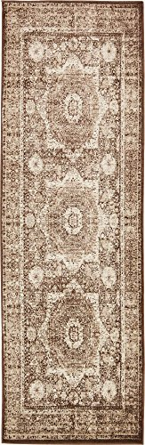 - Unique Loom Imperial Collection Modern Traditional Vintage Distressed Chocolate Brown Runner Rug (3' 0 x 9' 10)