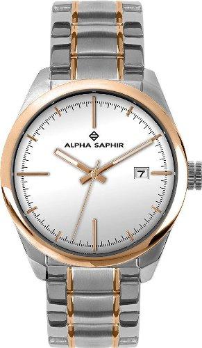 Alpha Saphir 339J - Reloj de caballero de cuarzo, correa de acero inoxidable color varios colores: Amazon.es: Relojes
