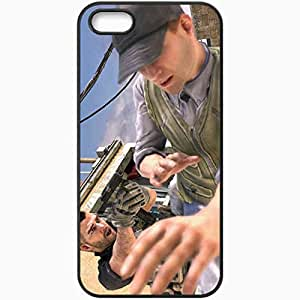 Personalized iPhone 5 5S Cell phone Case/Cover Skin Call Of Duty 4 Modern Warfare Black by lolosakes