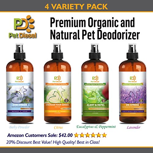 Pet Diesel Pet Deodorizer 4 Value Pack | Natural Enzyme S...