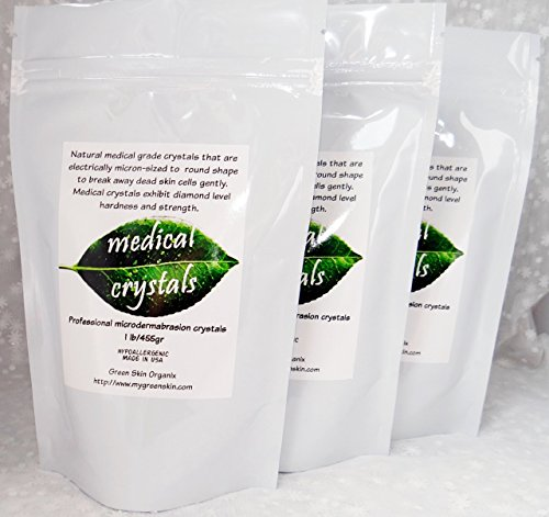 Best Stretch Mark Microdermabrasion Crystals 3lbs- Most Effective treatment for Old White Stretch Marks pure Stretch Mark Microdermabrasion Medical Crystals for manual use 3lbs shown to remove dead skin cells, exfoliate rough skin,repair scars and old whi by Medical Crystals