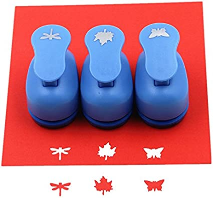 "PAPER Hand PUNCH 1/"" or 5//8/"" Choose STAR HEART CIRCLE LEAF SNOWFLAKE FEET"