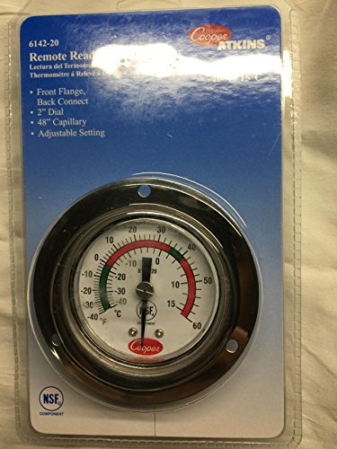 Thermometer Refrigerator Freezer External walkin recessed 2' dial 621038