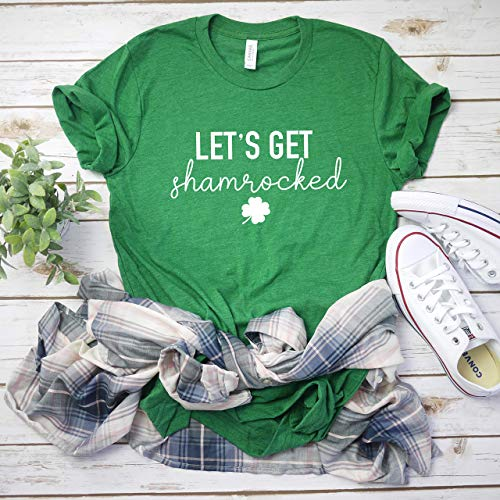 Lets Get Shamrocked Drinking Shirt Funny Drinking Shirt Lucky Shirt Women's St Patricks day tee Shamrock shirt Men's St Patty's day t-shirt St Patty's -