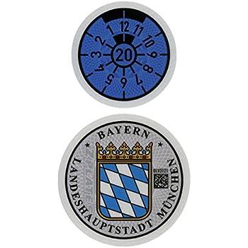 Frankfurt Germany German License Plate Registration Seal /& Inspection Sticker