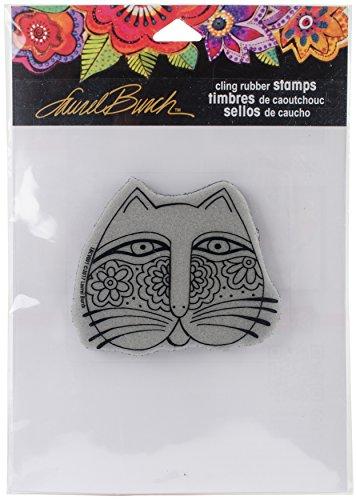 Stampendous Laurel Burch Cling Stamp, Feline Face]()