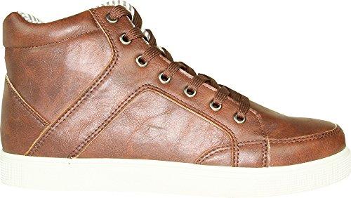 Coronado Heren Casual Schoen Gatsby-6 Sneaker Laars Comfort Zacht Met Een Moc Teen Bruin 7.5m