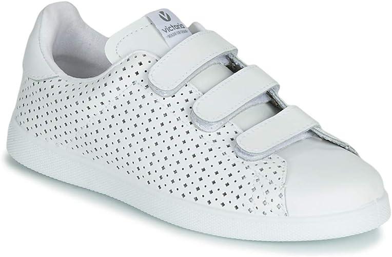 VICTORIA Tenis Velcro PERFORA Zapatillas Moda Mujeres Blanco Zapatillas Bajas