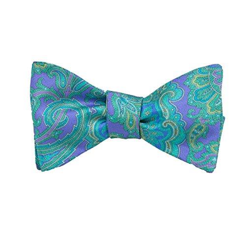 (Peter-Blair Men's Purple Kendrick 100% Silk Bow Tie Handmade in USA (39KEP1BT))