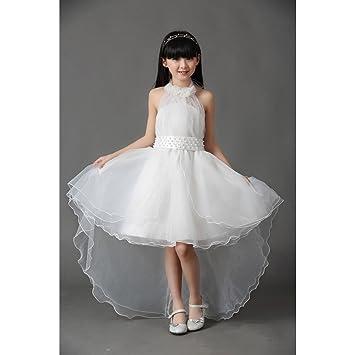 Amazon kakatm lovely girls one piece dress flower girl kakatm lovely girls one piece dress flower girl dresses white dress skirt princess mightylinksfo Image collections