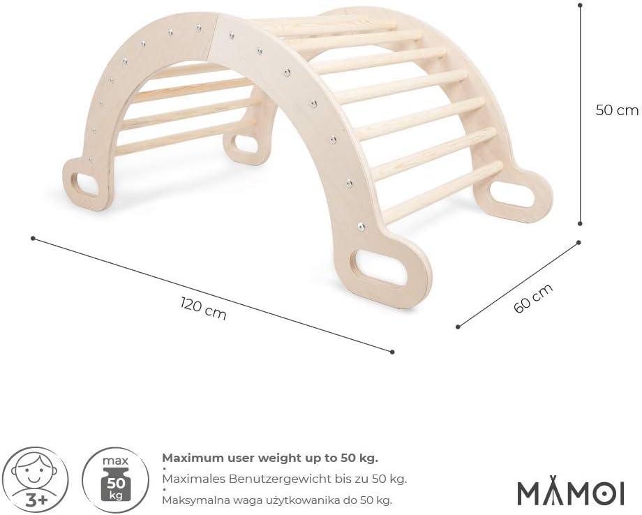 100/% ECO Indoor und Outdoor Dreieck Pikler f/ür Kinderzimmer Kletterdreieck f/ür Kinder aus Kiefernholz Kletter Dreieck Wippe Holz Nat/ürliche Materialien Made in EU