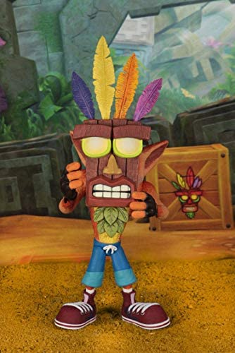 NECA - Figurine Crash Bandicoot - Crash & Aku Aku Ultra Deluxe 15cm - 0634482410608