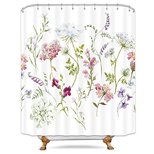 Best shower curtain floral fabric