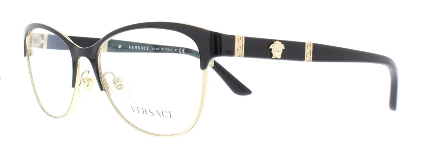 VERSACE Eyeglasses VE1233Q 1366 Black/Pale Gold