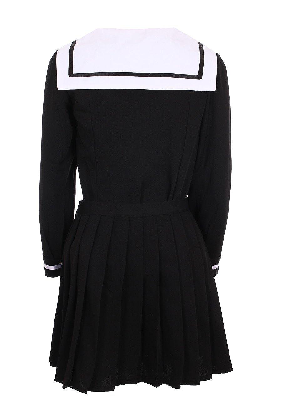 JapanAttitude Traje Adolescente Japonesa Coreana Negra Blanca + ...