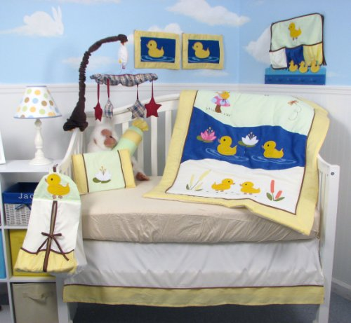 Duck Baby Bedding (SOHO Baby Quack Quack Duck Crib Nursery Bedding Set 14 pcs)