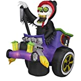 Airblown Inflatable Grim Reaper in a Hot Rod