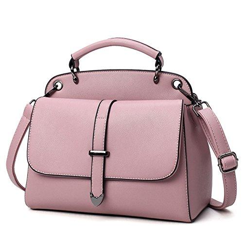 Dama El Negro Bolso Es Moda Nueva Sesgar Aire La GWQGZ Bolsa Salvaje Simple Casual Bolso Spanning Pink El qwS87tan