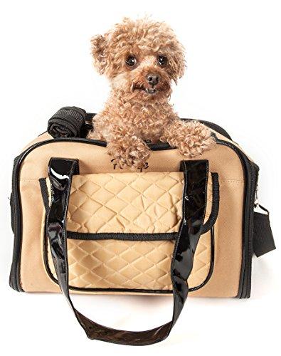 PET LIFE 'Mystique' Airline Approved Fashion Designer Travel Pet Dog Carrier, One Size, Brown